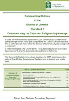 Standard 6 - Communicating the Churches' Safeguarding Message