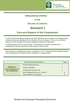 Standard 3 - Care and Support of the Complainant